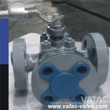 Flanged Ss304&Ss316 Three Way Sleeved Plug Valve