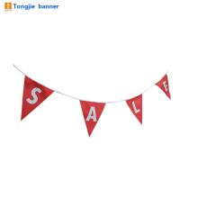 Bandeira do papel da festa de anos feliz feita sob encomenda ou bandeira da estamenha da tela para a venda da decoração