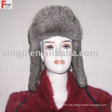 Rassion Pelz Hut voller Pelz natürliche graue Farbe Chinchilla Kanin Pelzmütze