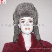 sombrero de piel de russion sombrero de piel de conejo chinchilla color gris piel natural lleno
