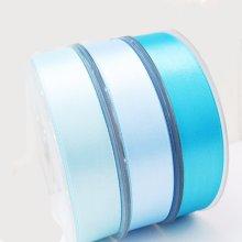 Скидка Лента 1 дюйм 25 мм Sky Blue Тканые 100% полиэстер Шелк атласа Праздновать его ленты