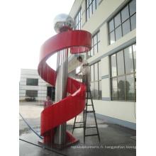 Modern Grand Famous Arts Résumé en acier inoxydable Fontaine Sculpture pour décoration extérieure