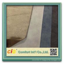 Canapé modulable en suède de cuir suédé de tissu de coton 100% suédé par sofa sectionnel de sofa