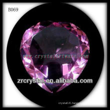 K9 Pink Crystal Heart diamonds