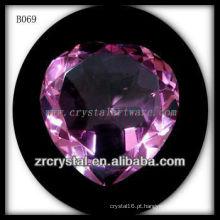 K9 diamantes coração de cristal rosa