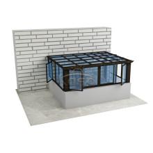 Solar de aluminio de invierno casa de jardín de vidrio templado solarium