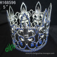 .New Designs Rhinestone whole circle boy crowns& tiara