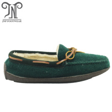 high quality comfortable warm women's felt moccasin slippers