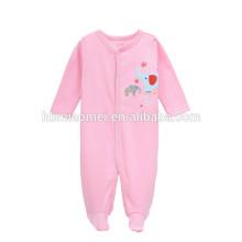 симпатичный дизайн младенческой комбинезон младенца девочек длинный рукав зима розовый цвет пустой ребенок onesie для девочки