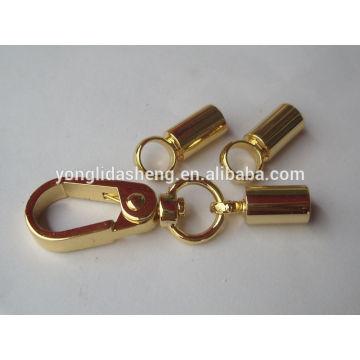 Llavero caliente del metal de la venta del oro con alta calidad y precio barato