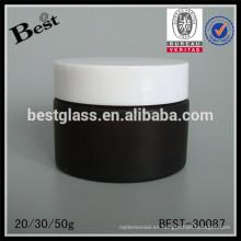 Tarro cosmético ambarino 20/30 / 50g con la tapa, tarro poner crema de cristal para la venta, tarros cosméticos y tapas vidrio