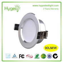 UL listed RA>80 PF>0.95 90LM/W 3W LED downlight with Competitive Price