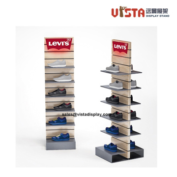 Freestanding+Wooden+Advertising+Shoe+Rack