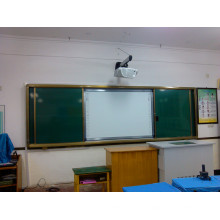 Schiebe-Whiteboard für ineraktiven Unterricht mit Projcetor