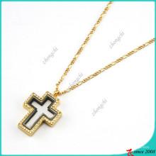 Heißer Verkauf Kreuz Anhänger Medaillons Halskette für Jungen (FL16040837)