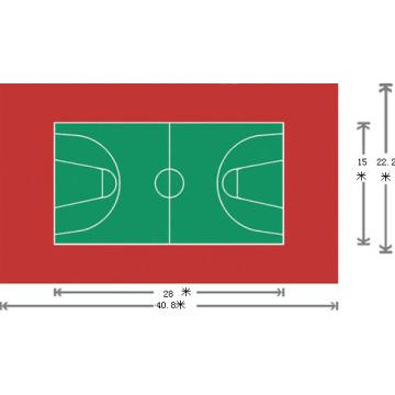 ПВХ полы для спорта с использованием 3,5 мм * 1,5 м * 20 м / Roll