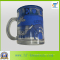 Tasse en verre de tasse avec couvercle avec autocollant de café Kb-Hn0735