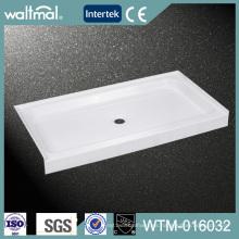 Base / bandeja de ducha de acrílico aprobadas Cupc con el reborde de pared