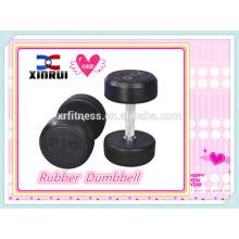 Black Rubber Dumbbell