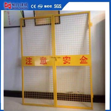 Construcción Ascensor Puerta de seguridad para obra