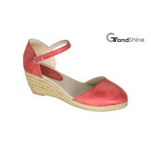 Sandalias de la manera de las mujeres Espadrille Wedge