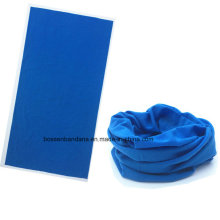 OEM Produce Solid Color Blue Dyed Polyester Microfiber Promotional Seamless Neck Tube Scarf