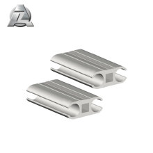 aluminium extrusion profile for double barrel heavy duty tent keder
