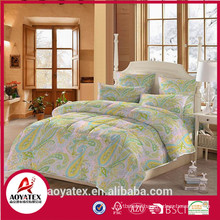 Customized pattern printing micorfiber home use comforter set