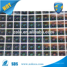 ZOLO top selling PET Custom 3d Hologram Sticker, Packaging and printing