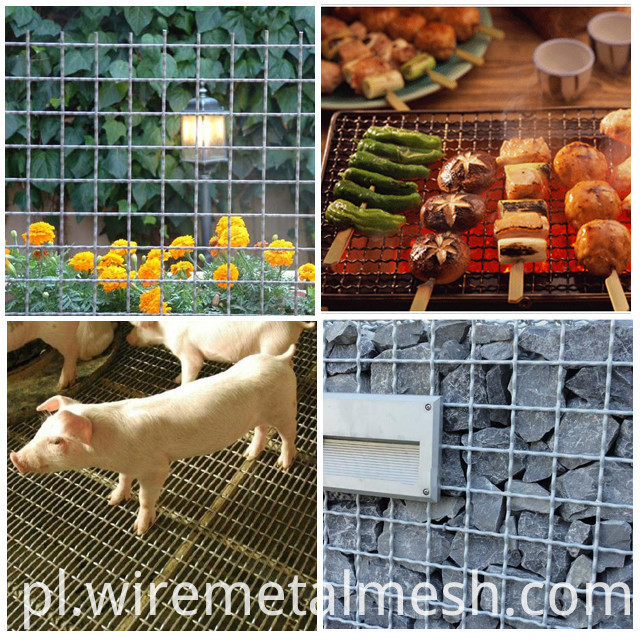 galvanized crimped wire mesh application