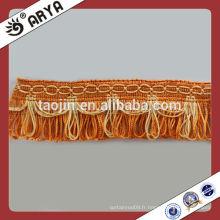 Polyester Fringe Tassel Dentelles en dentelle pour rideau