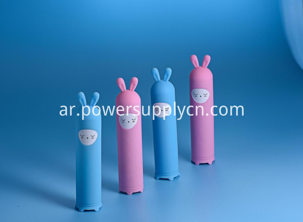 Silicon Cartoon Design Promotion Gift Power Bank 2200mah 2400mah 2600mah