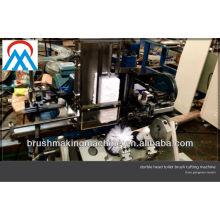 duas estações de montagem máquina de tufagem de escova de vaso sanitário de 4 eixos