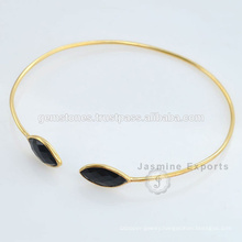 Beautiful Vermeil Gold Black Onyx Gemstone Indian Jewelry For Wholesale