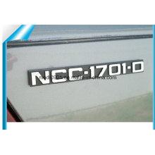 Custom ABS Car Logo Sticker Custom Made Adhesive Badges Lettering Stickers Shiny V6 Car Chrome Badges 3m Metal