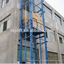 Elevador de mercadorias de trilho de guia de elevador de carga de armazém estacionário elétrico