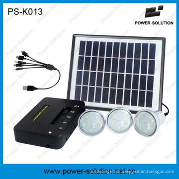Drei Licht Solarbetriebene Kits für Familienbeleuchtung und Mobile Charging