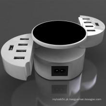 10 Portas Portátil Rapid Portátil de 50 Watts Travel USB Adapter Carregador de parede