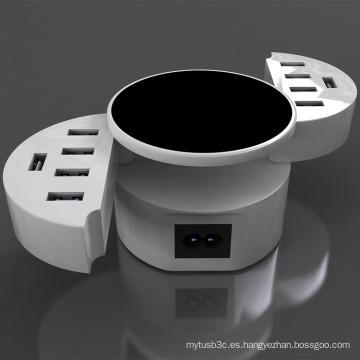 10 puertos 50 vatios portátiles rápidos USB cargador viaje USB cargador de pared adaptador