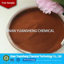 Lignosulfonato de calcio de alta pureza con paleta para la carpeta de briquetas de carbón