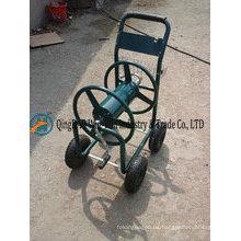 Carrito de carrete de manguera de agua de jardín de cuatro ruedas