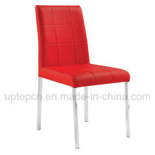 Durable Red Color Leather Chair with Stainless Steel Legs for Wedding Ceremony (SP-LC247)