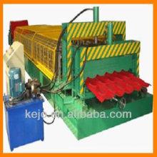 Telha de telha revestida de cor folha de passo rolo máquina formadora linha de produção totalmente automática