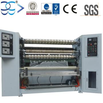 Machine de rétraction et de rembobinage de ruban adhésif à tourelle