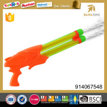 Transparent double barrel water gun toy