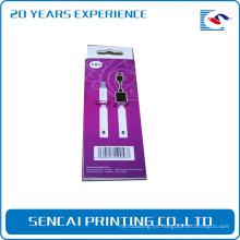 Caja de papel de empaquetado del cambiador de alambre de los productos electrónicos de encargo
