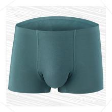 Stock cheap modal antibacterial seamless cotton boxer four corner briefs trunk male pants underwear