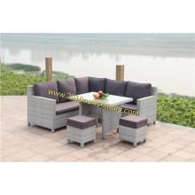 Ensemble de canapé en plein air avec rotin et tissage en osier