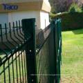 Pesado galvanizado curvado soldada malha pvc cerca, prendedores de cerca de malha de arame