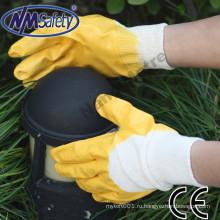 Месторождения нефти NMSAFETY желтый нитрила перчатки